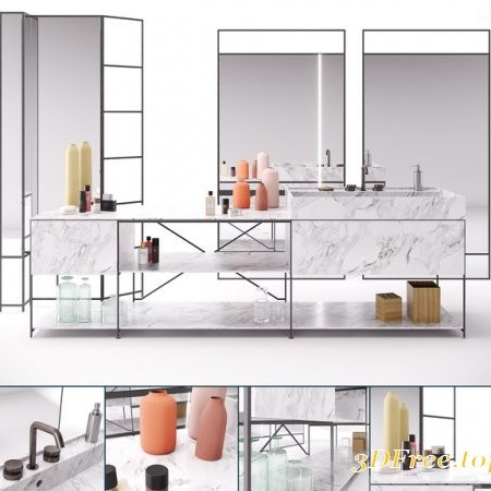 RIG Modules - Bathroom with Decor Set 01