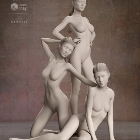 Daz3D - Distinctive HD Faces and Bodies for Genesis 3 Female