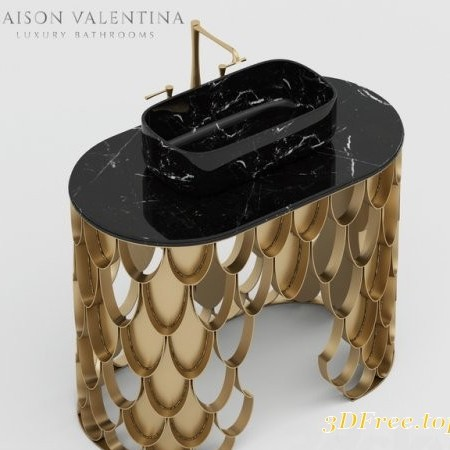 Maison Valentina Koi Single Washbasin