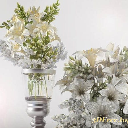 Bouquet of lilies with: lilies of the Valley