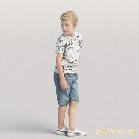 Casual child boy standing and looking back