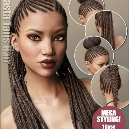 Daz3D - Rasta Tails Hair and OOT Hairblending 2.0 for Genesis 3 Female(s)