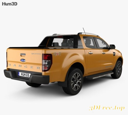 GFX Ford Ranger Double Cab Wildtrak With HQ Interior 2016