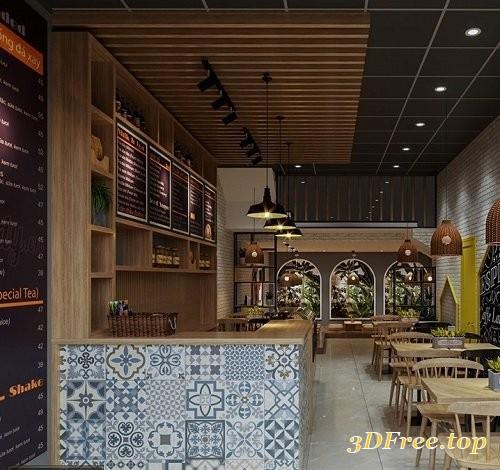 Gfx Interior Restaurant Scene Max Sketchup 3d Models Blog