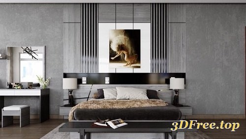 Gfx Modern Bedroom Interior Scene 65 3d Models Blog