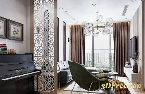 Gfx Living Room 3d Interior Scene 18 3d Models Blog