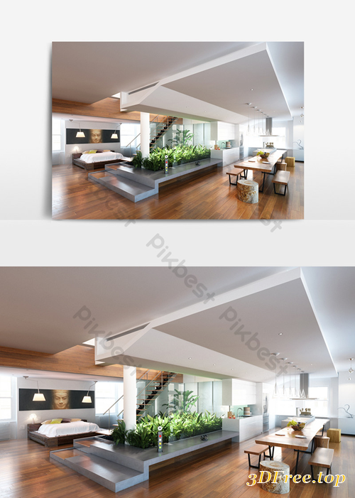 Gfx Duplex Building Interior Design Modelv Decors 3d Modelsv Templatev Max 3d Models Blog