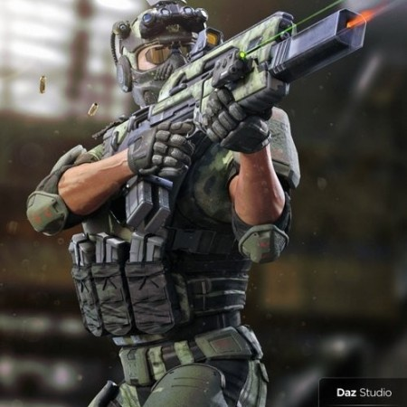 Daz3D - Tactical Assault Rifle & Add-ons for Tactical Assault Outfit