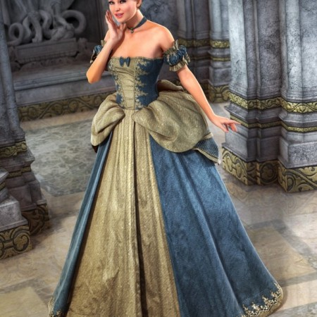 Cinderella Ball Gown for Genesis 2 Females