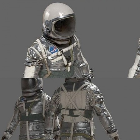 Cgtrader - SPACESUIT NASA Mercury Navy Mark IV 3D model