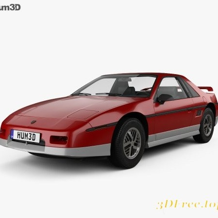 Pontiac Fiero GT 1985 3D model