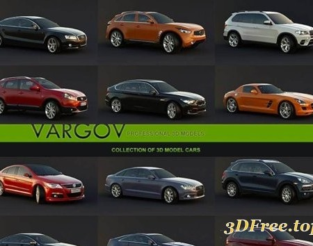 Vargov Collection of 3d Models Car