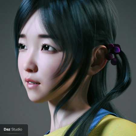 Hashimoto Character and Hair for Genesis 8 Female