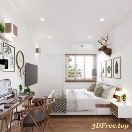Interior Bedroom Scene by QuocAnh for SketchUp