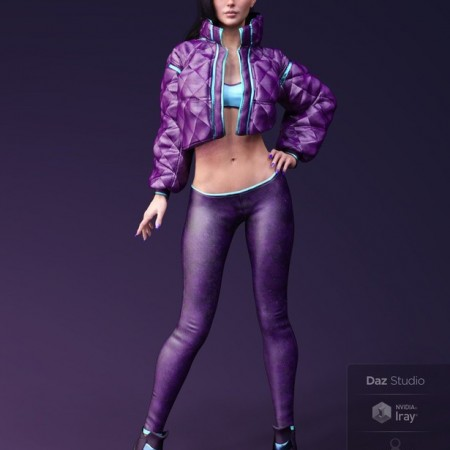 X-Fashion Street Dancer Outfit for Genesis 8 Female(s)