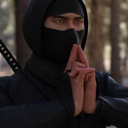 dForce Ninjitsu Outfit for Genesis 8 Male(s)