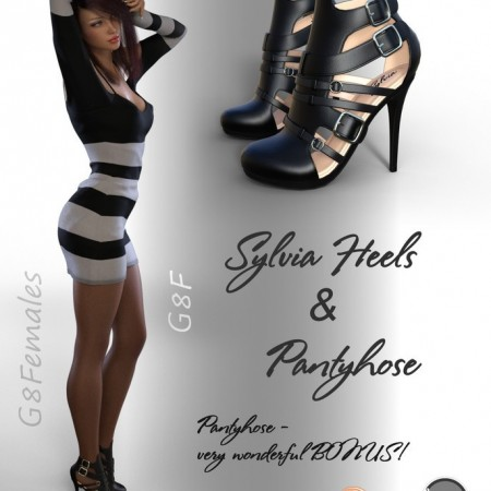 Sylvia Heels and Pantyhose G8F