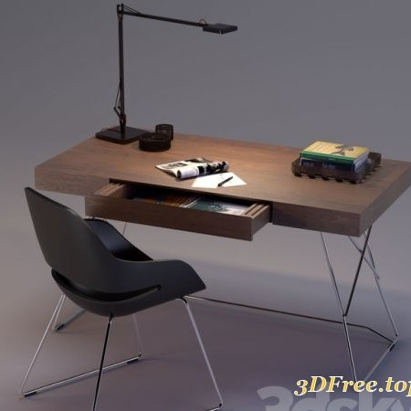Maestrale Desk & Eva Chair by Zanotta