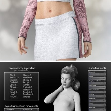 Daz3D - dforce Rabble-Rouser Outfit for Genesis 8 Female(s)