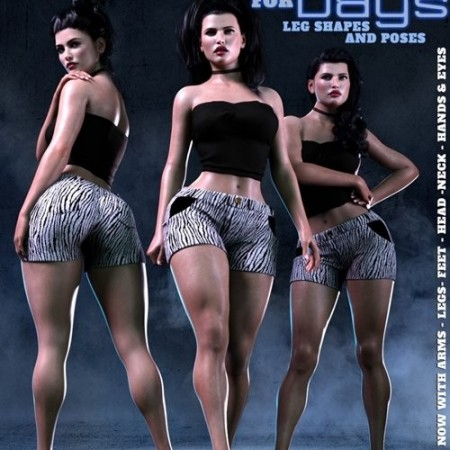 Daz3D - Z Legs for Days Shapes and Poses Mega Set