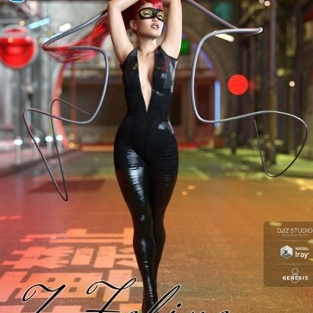 Daz3D - Z Feline Instinct Morphing Whip and Poses