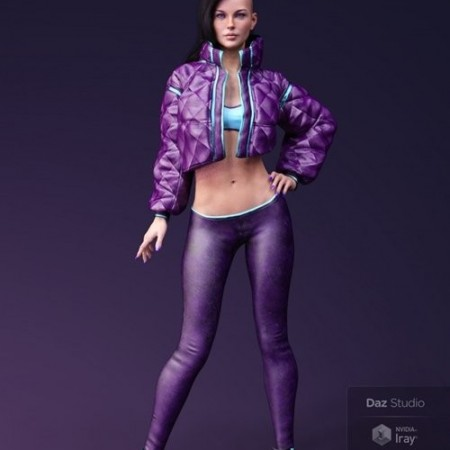Daz3D - X-Fashion Street Dancer Outfit for Genesis 8 Female(s)