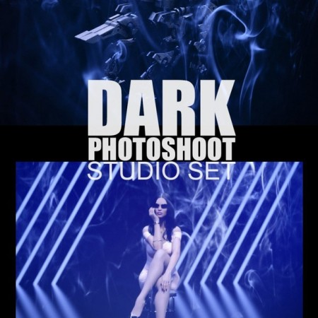 Dark Photoshoot Studio Set