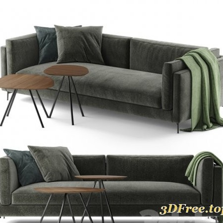 Calligaris Danny sofa and Calligaris Tweet coffee tables