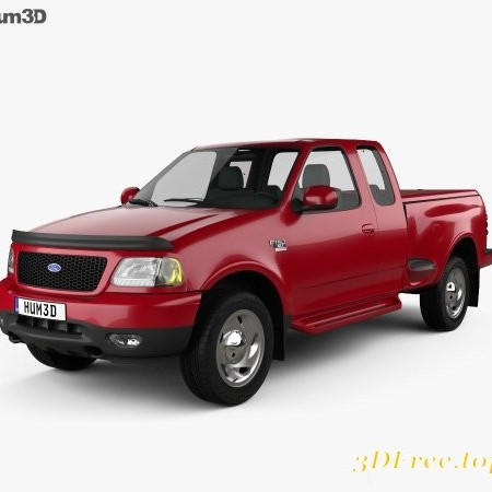 Ford F-150 Club Cab Flareside XLT 1999 3D model