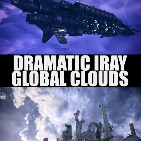 Dramatic Iray Global Clouds