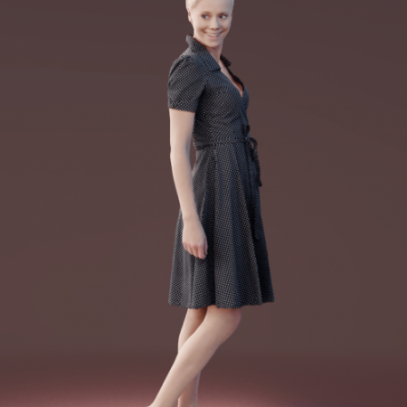 Casual Woman Standing scanned 3d model