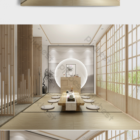 Chinese style indoor tea room renderingsВ Decors & 3D ModelsВ TemplateВ MAX