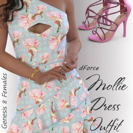 dForce Mollie Candy Dress Outfit for Genesis 8 Female(s)