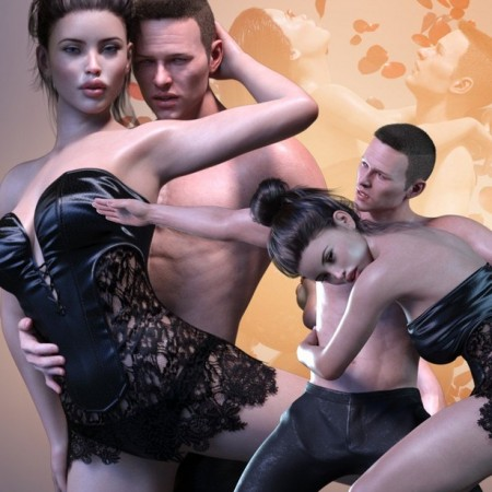Z In Synchrony – Romantic Couple Poses for Genesis 3 and 8