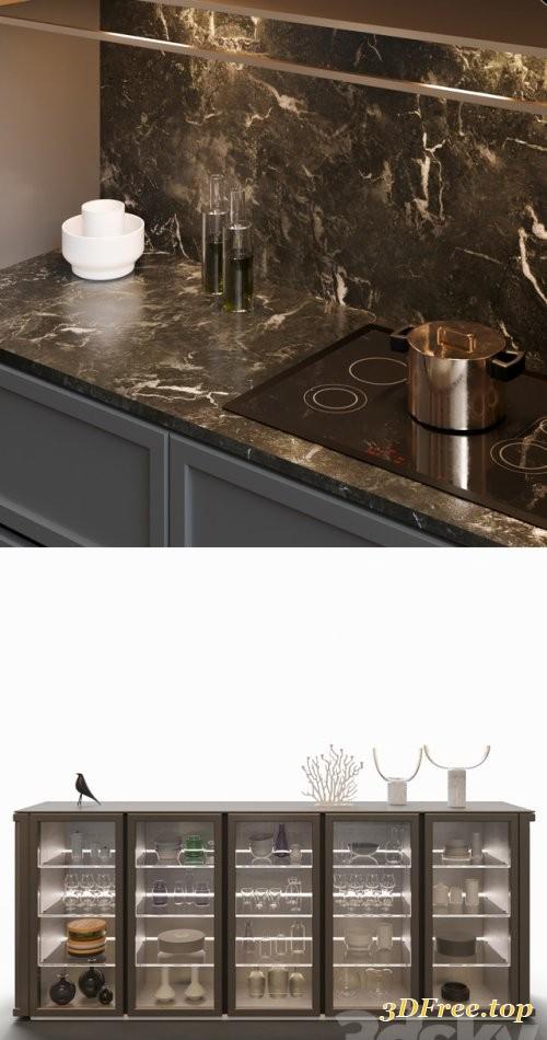 Gfx Kitchen Snaidero Frame 3d Models Blog