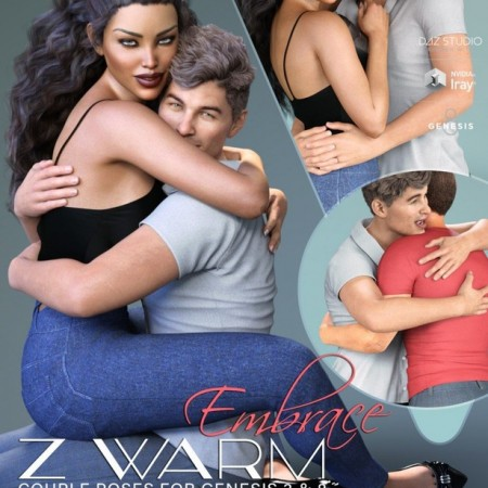 Z Warm Embrace Couple Poses for Genesis 3 and 8