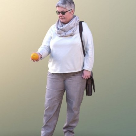 Barbara 10531 - Shopping Casual Woman VR / AR / low-poly 3d model