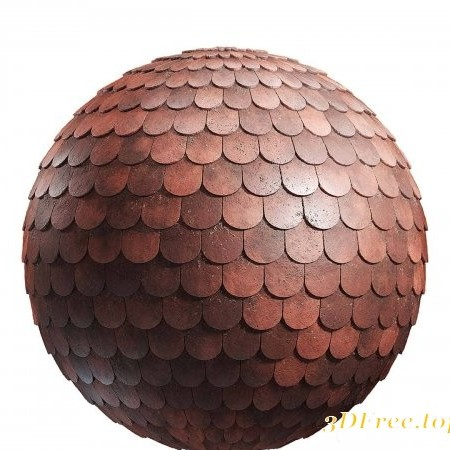 Brown ceramic roof PBR Texture