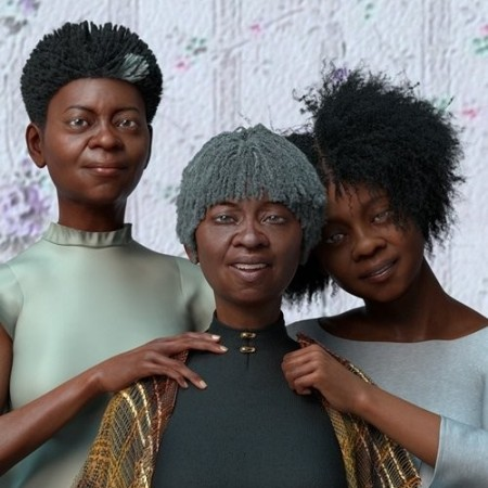 Daz3D - dForce Oso Textured Hair for Genesis 8 Female Bundle