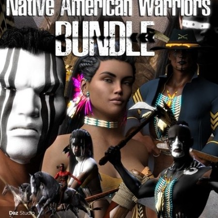 Daz3D - Native American Warrior Bundle DS