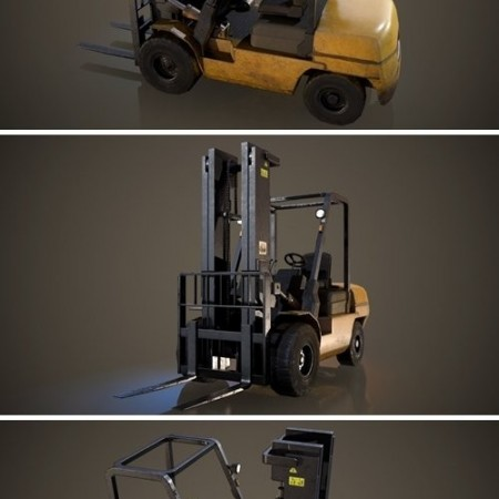 Forklift Truck – Low Poly