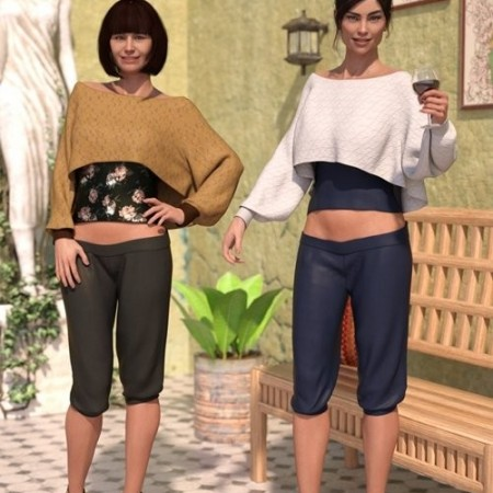Daz3D - dForce Casual Chic Outfit Textures