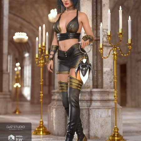 Fire Soul Outfit for Genesis 8 Female(s)