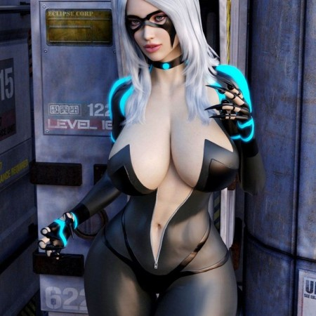Sexy Black Cat 2099 for Genesis 3 Female