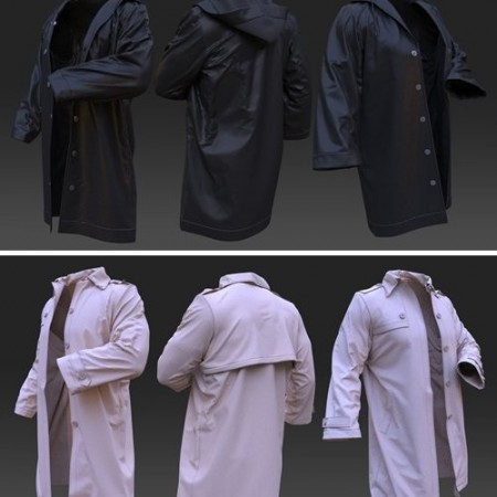 Men's raincoats. Clo3d, Marvelous Designer projects