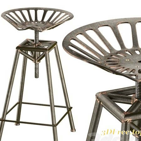 Charlie Industrial Metal Design stool