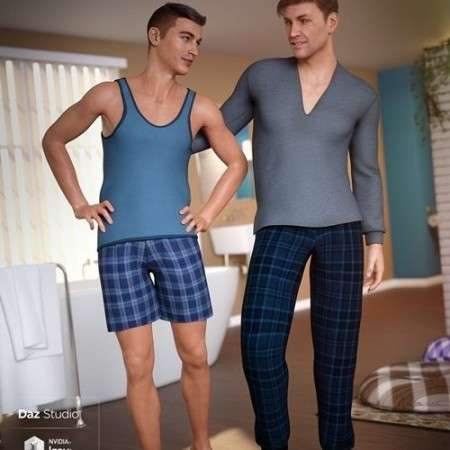 Daz3D - dForce Pajamas for Genesis 8 Male(s)