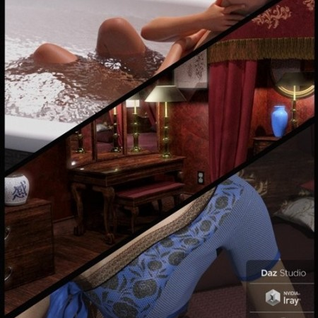 Daz3D - FG Fancy Asian Hotel Bundle