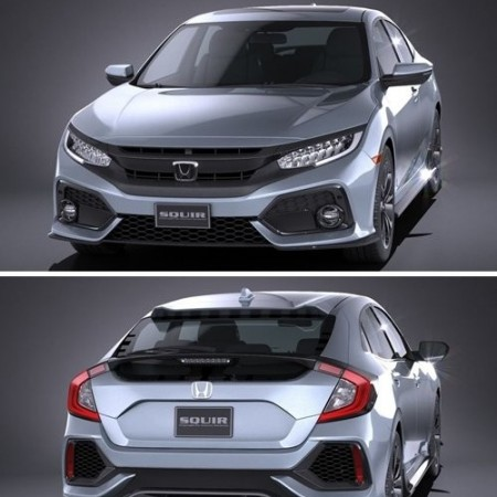 Honda Civic Hatchback 2017 3D Model
