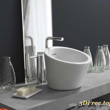 Washbasin with decoration